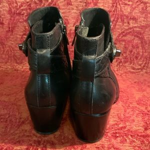 Coach Shoes - Black leather Coach US size 5.5 Patricia booties
